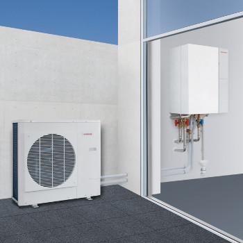 duvivier s rl pompes chaleur air eau bi bloc split pour chauffage et refroidissement weishaupt. Black Bedroom Furniture Sets. Home Design Ideas